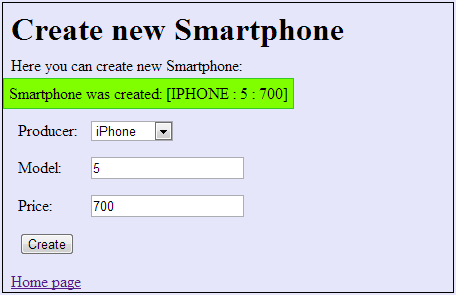 Create new Smartphone