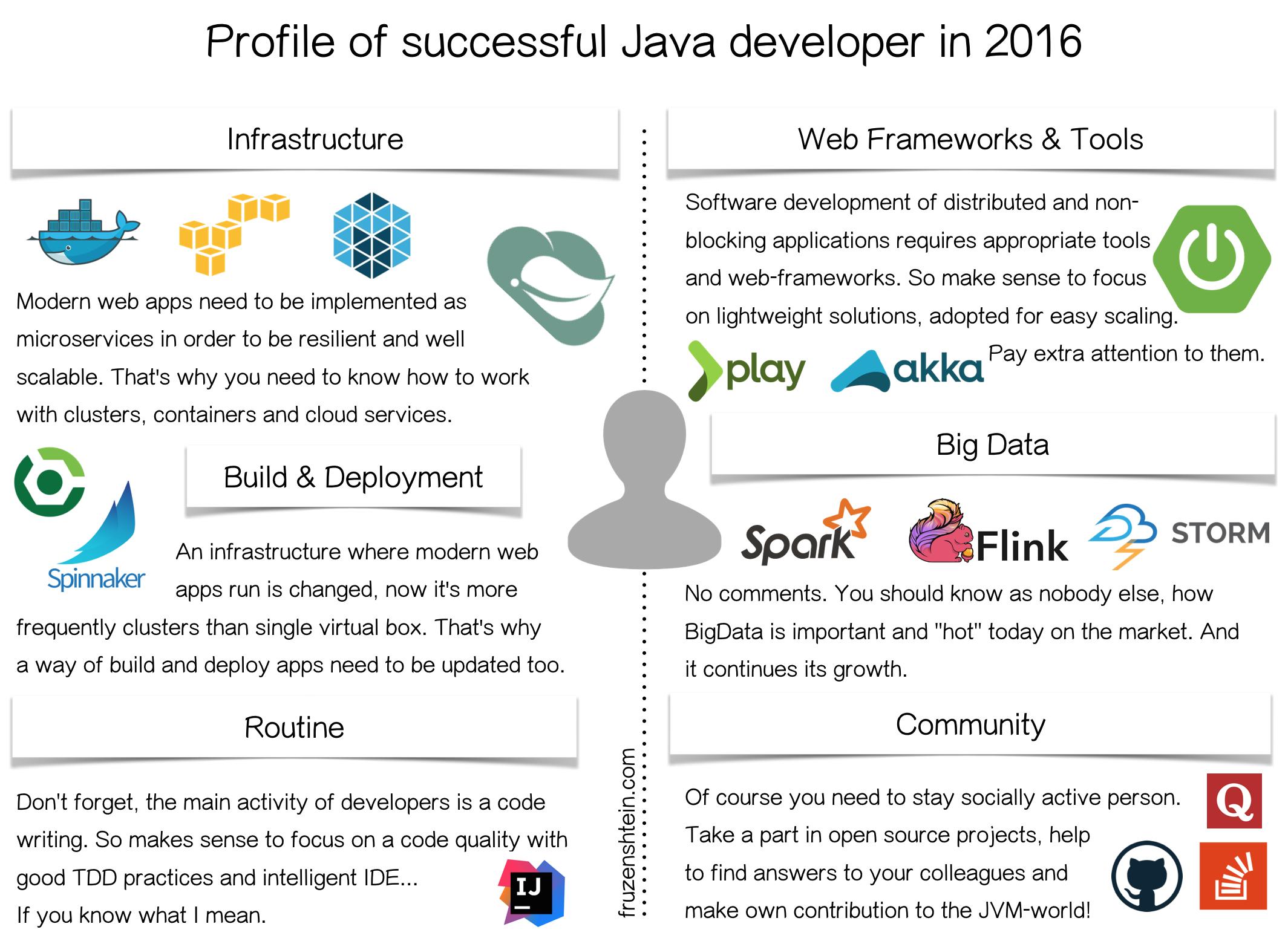 Profile of successful Java developer in 2016